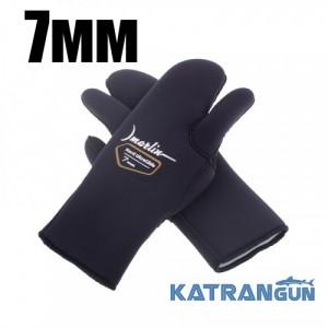 Рукавицы для подводной охоты Marlin Nord Ultraglide 7 мм
