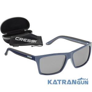 Спортивные солнцезащитные очки Cressi Sub Rio Black/Blue Lens
