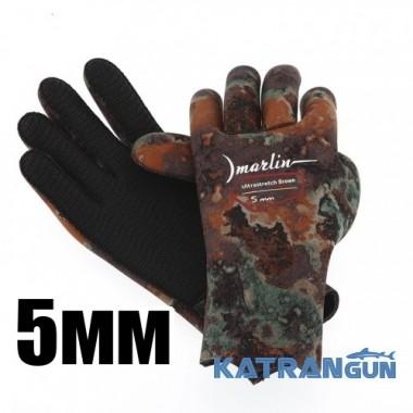 Подводные перчатки Marlin Ultrastretch Brown, 5 мм