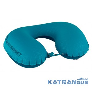 Зручна подушка для подорожей Sea To Summit Aeros Ultralight Pillow Traveller Aqua
