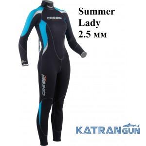 Жіночий гідрокостюм для плавання Cressi Sub Summer 2,5 мм