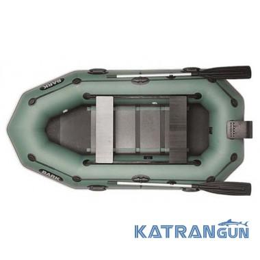 Надувний човен барк B-260NPD, рухомі сидіння