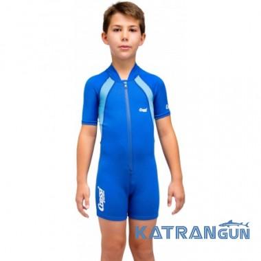 Детский гидрокостюм для плавания Cressi Sub Kid Shorty 1,5 мм; синий; для мальчика