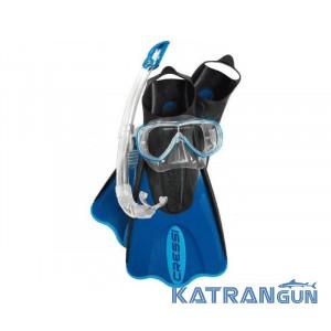 Набор маска ласты трубка Cressi Sub Elastic Short Bag