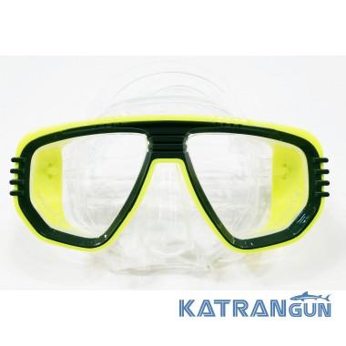 Маска для підводного плавання IST Corona, прозоро-жовта
