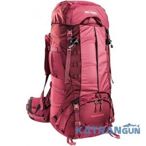 Женский рюкзак для длинных походов Tatonka Bison 60+10 Woman Bordeaux Red
