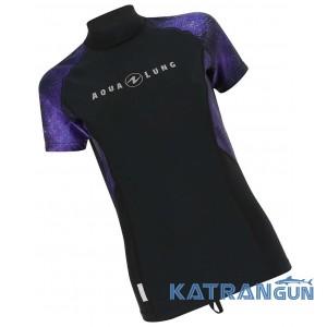 Жіноча футболка для плавання Aqua Lung Rashguard Galact Lady, Purple
