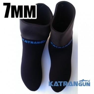 Носки для подводной охоты KatranGun Hunter Pro Anatomic WaterLock 7 мм
