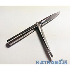 Наконечники для подводных ружей Kalkan Pro, трёхгранный, удлинённая голова, 1 флажок