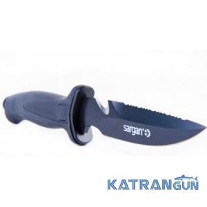 Нож для подводной охоты Sargan Ирень; чернёный