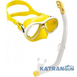 Набор для плавания Cressi Sub Marea Vip; желтый