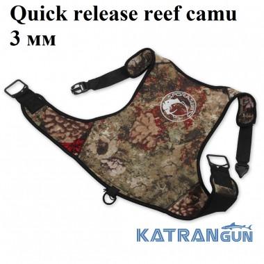 Разгрузочный жилет для подводной охоты Omer Quick release reef camu 3 мм
