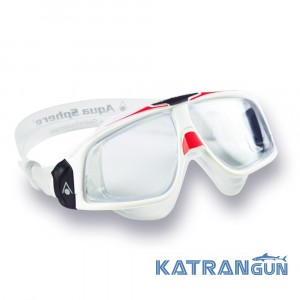 Очки для плавания Aqua Sphere Seal 2.0, clear lens white/red