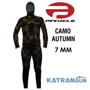 Гидрокостюм для подводной охоты Pinnacle Camo Autumn 7 мм