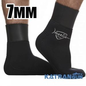 Неопреновие шкарпетки підводного полювання Marlin WaterLock Sandwich, 7 мм