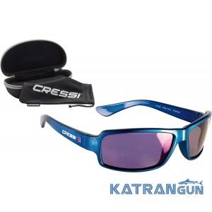Очки для водных видов спорта Cressi Sub Ninja зеркальные стекла, синие