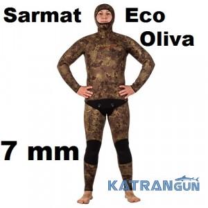 Гидрокостюм Marlin Sarmat Eco Oliva 7 мм