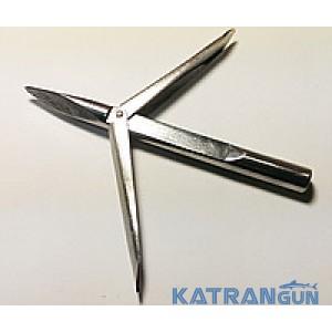 Накінечник для підводного полювання Katrangun Pro з подовженим підставі, 2 прапорця, тригранний