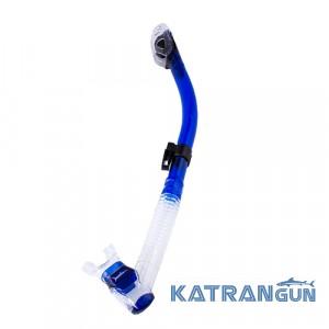 Трубка для плавания Marlin Dry Lux; прозрачно-синяя