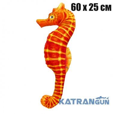 Подушка-игрушка Морской конек оранжевый (60х25 см)