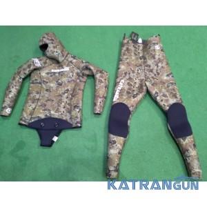 Зимовий гідрокостюм для підводного полювання KatranGun Lite Camo 10 мм (короткі штани)
