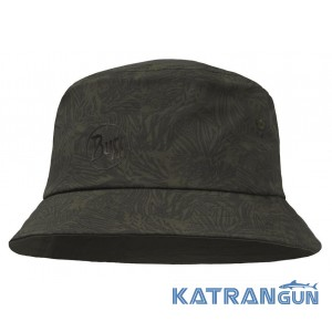 Мужская летняя панама BUFF Trek Bucket Hat Checkboard Moss Green