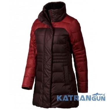 Стильный женский пуховик Marmot Women's Alderbrook Jacket, Dark Crimson