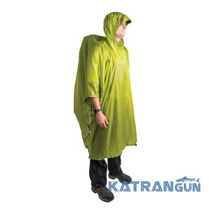 Тент пончо туристичне Sea To Summit Tarp Poncho Green