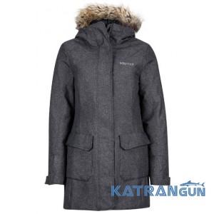 Теплая женская зимняя куртка Marmot Women's Georgina Featherless Jacket, Black
