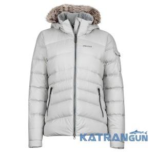 Короткий женский пуховик Marmot Women's Ithaca Jacket, Silver