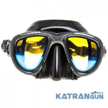 Просветленная маска Marlin Hybrid karbon (просветленные стекла)