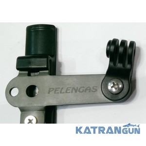 Крепление камеры GoPro на подводное ружьё Pelengas