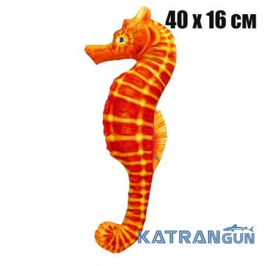 Подушка-игрушка Морской конек оранжевый (40х16 см)