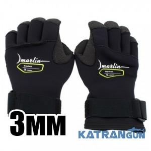 Кевларовые перчатки для подводной охоты Marlin Kevtex 3 мм