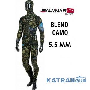 Гидрокостюм подводная охота Salvimar Blend Camo 5,5 мм
