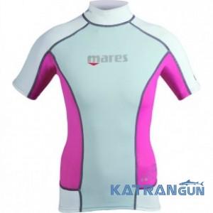 Футболка с защитой от солнца Mares Short Sleeve Trilastic Rash Guard