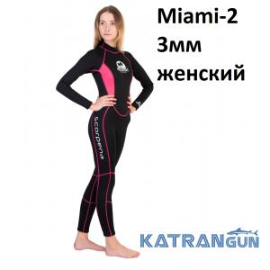 Жіночий гідрокостюм для дайвінга та снорклінга Scorpena Miami 2; 3 мм