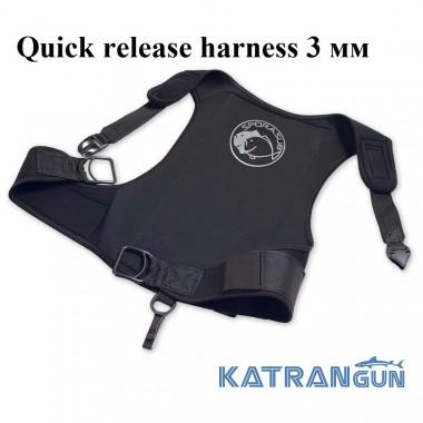 Разгрузочный жилет Sporasub Quick release harness 3 мм; черный