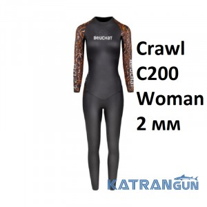 Женский гидрокостюм для триатлона Beuchat Crawl C200 Woman 2 мм