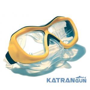 Маска для подводного плавания Poseidon 3D; желтая