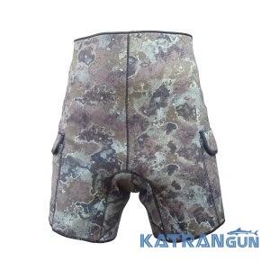 Неопренові шорти для підводного полювання з кишенями Marlin Camo Green 3 мм