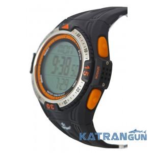 Подводные часы с глубиномером SARGAN Вектор 100м оранжевые кнопки/оформление