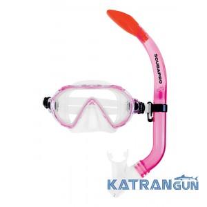 Детский набор для плавания Scubapro Spider; розовый