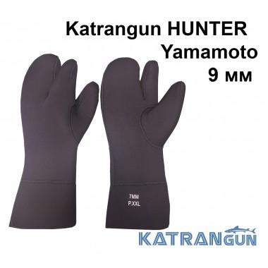 Рукавицы трехпалые без усиления Katrangun Hunter Yamamoto 39; 9 мм