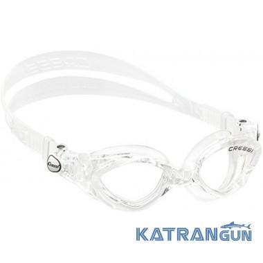 Дитячі окуляри для плавання Cressi Sub King Crab; Sil / Clear