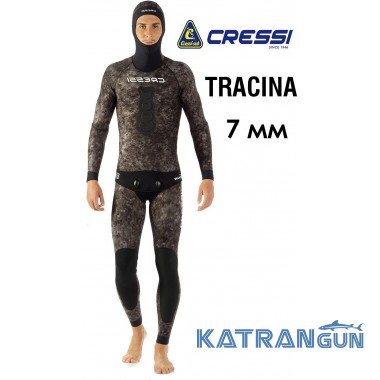 Гідрокостюм для підводного полювання 7 мм Cressi Tracina (штани з лямками)