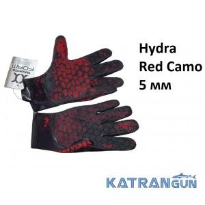 Перчатки для дайвинга Hydra Red Camo 5 мм