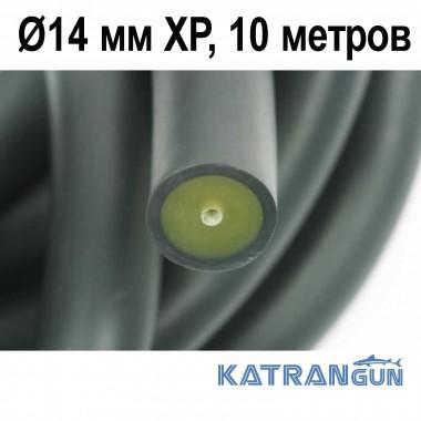 Тяги арбалетів в бухтах Pathos Latex Anaconda; 14 мм XP, чорна, 10 метрів
