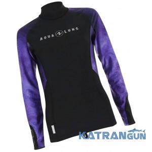 Женская лайкровая футболка AquaLung Galaxy Purple, длинные рукава