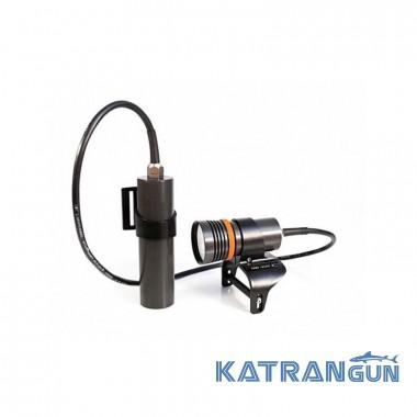 Фонарь для дайвинга Finnsub 3000LM Short канистровый; зарядное устройство; держатель